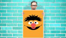 Ernie sesame street Art - Wall Art Print / Poster   - Kids Children Bedroom Geekery